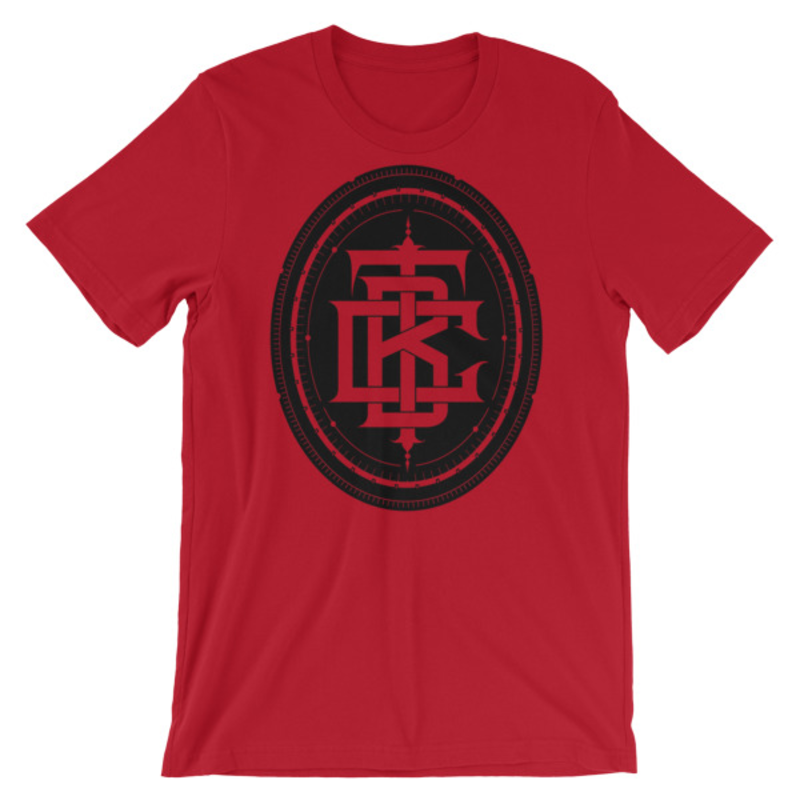 BTC initial Short-Sleeve Unisex T-Shirt - Red