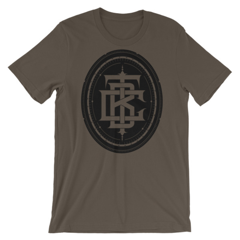 BTC initial Short-Sleeve Unisex T-Shirt - Army