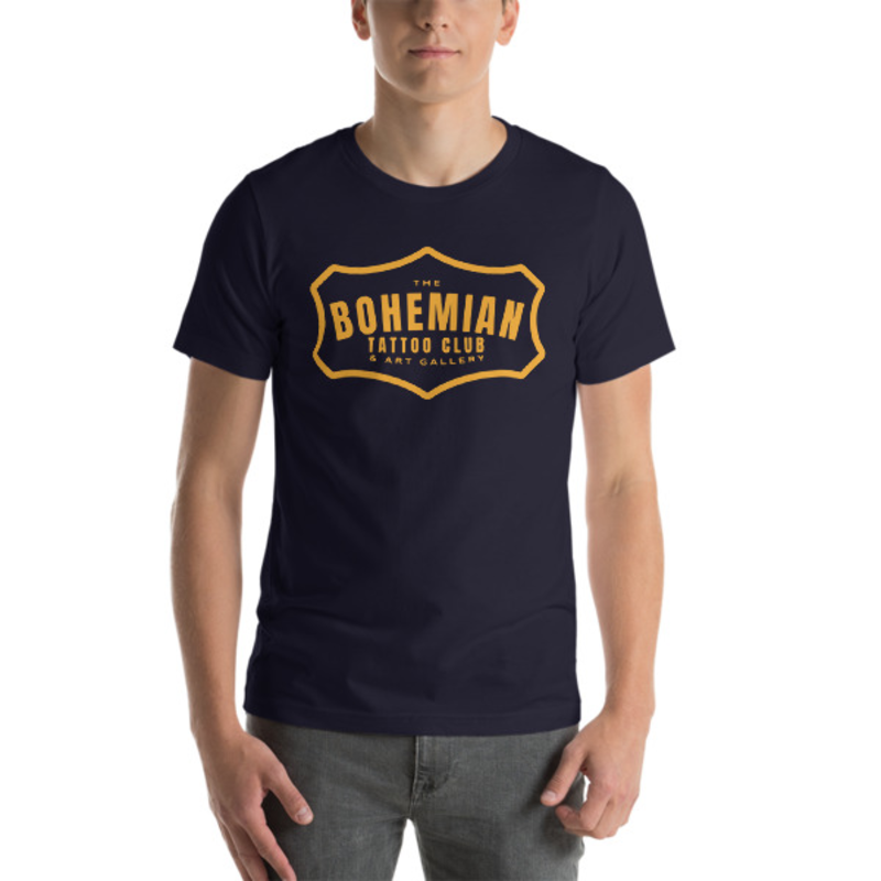 Bohemian Gold! Short-Sleeve Unisex T-Shirt - Navy