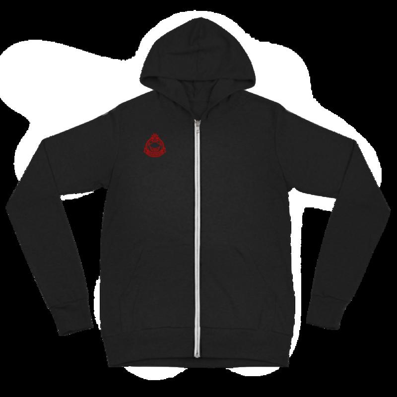 Unisex zip hoodie - Solid Black Triblend
