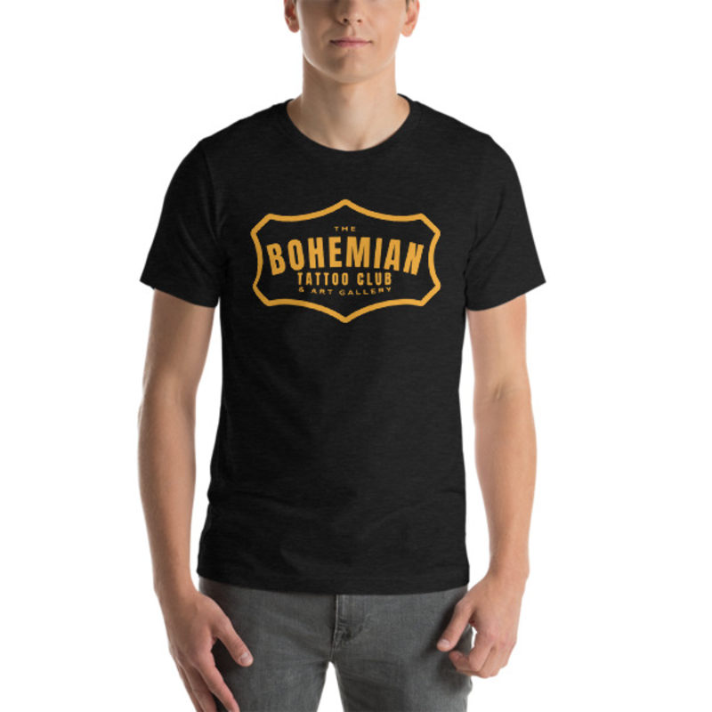 Bohemian Gold! Short-Sleeve Unisex T-Shirt - Dark Grey Heather