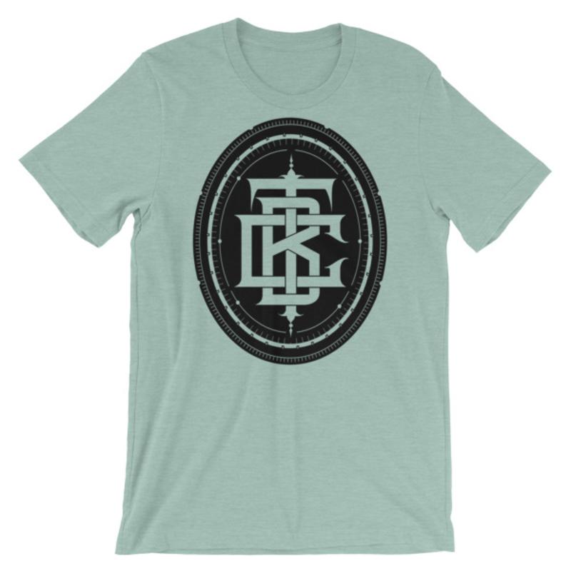 BTC initial Short-Sleeve Unisex T-Shirt - Heather Prism Dusty Blue