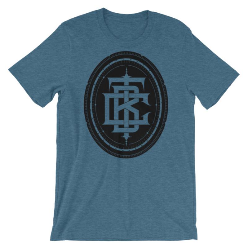 BTC initial Short-Sleeve Unisex T-Shirt - Heather Deep Teal