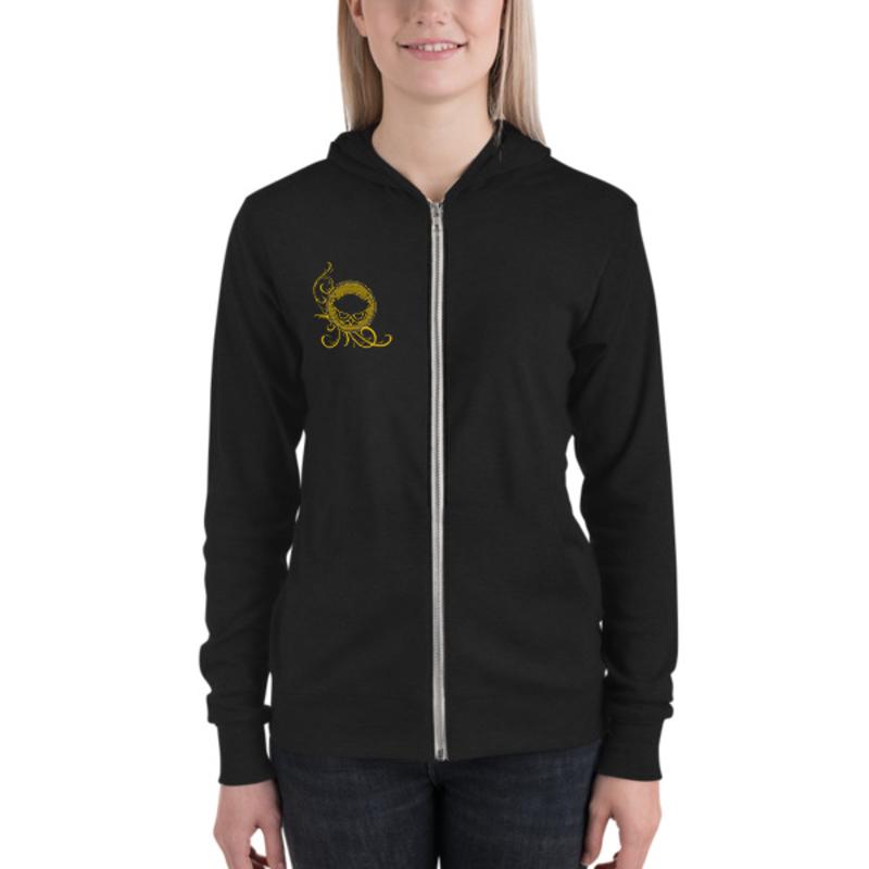 BTC Gold Logo Unisex zip hoodie