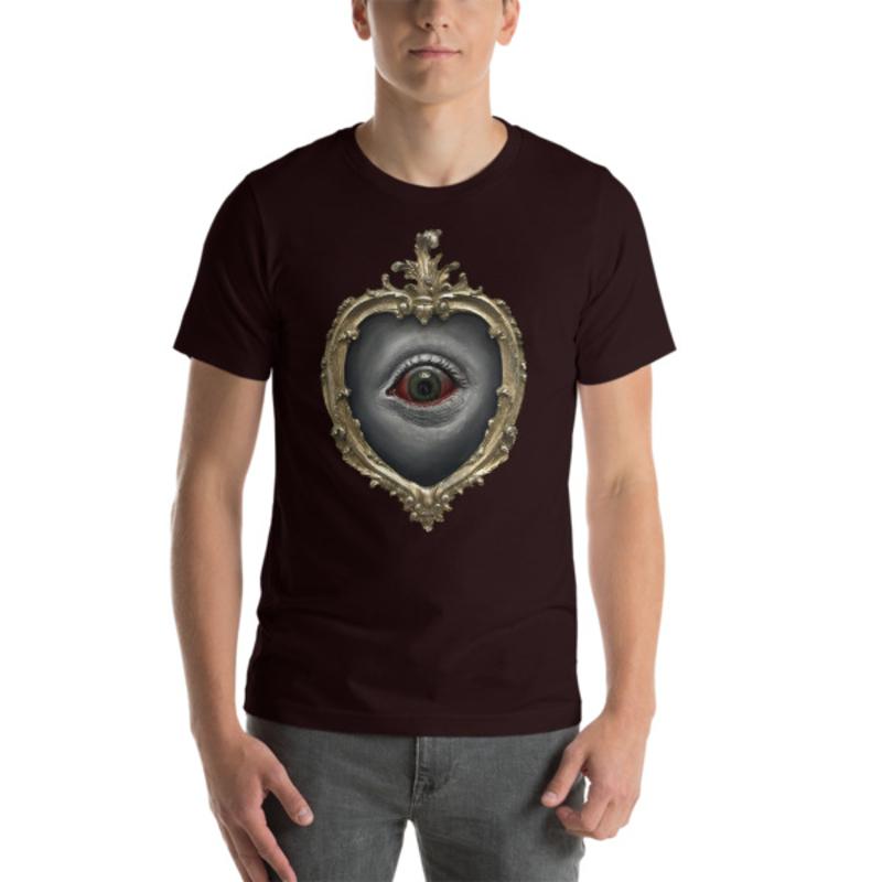 TIMOTHY BOOR signature series Short-Sleeve Unisex T-Shirt - Oxblood Black