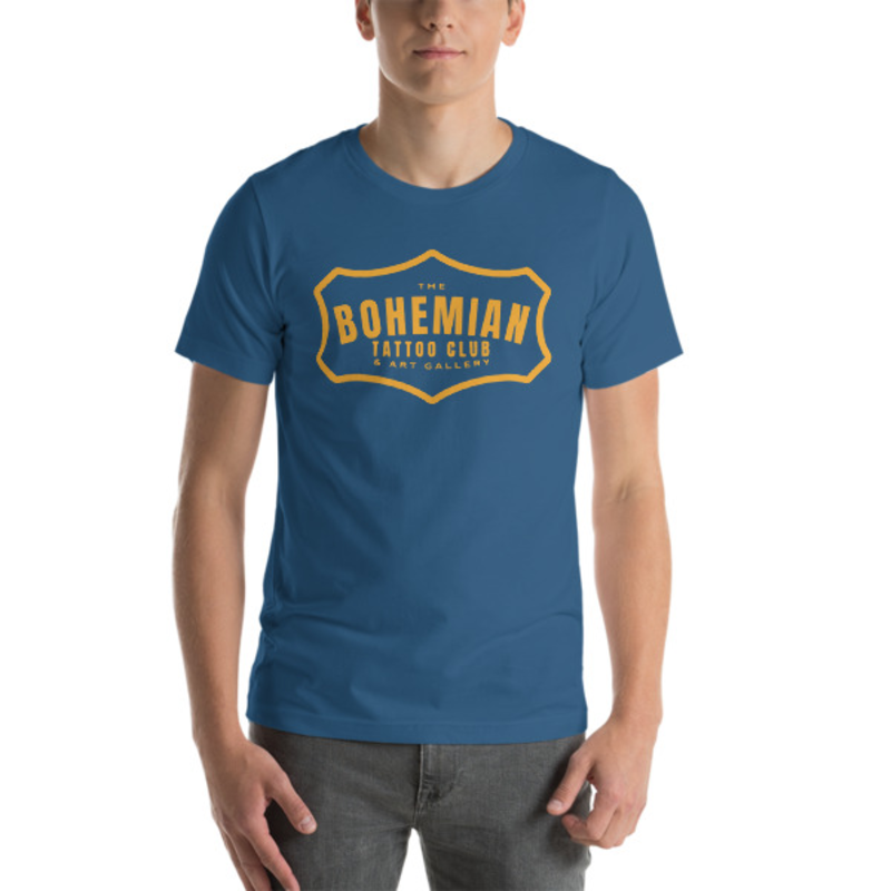 Bohemian Gold! Short-Sleeve Unisex T-Shirt - Steel Blue