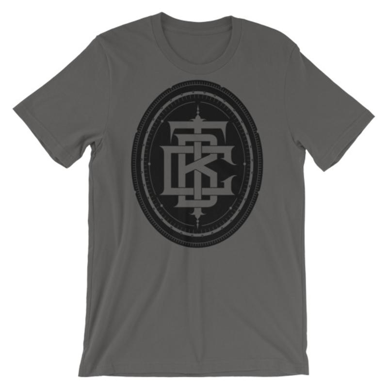BTC initial Short-Sleeve Unisex T-Shirt - Asphalt