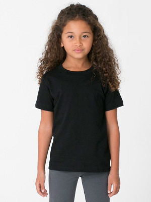 American Apparel 2105W Kids Fine Jersey Short Sleeve T-Shirt ...