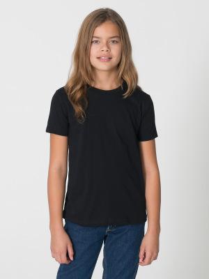 91f0dc1ffda American Apparel 2201 Youth Fine Jersey Short Sleeve T-Shirt