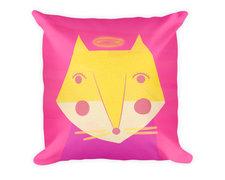 Pink Fox Pillow