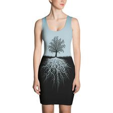 Light Blue Tree Root Dress
