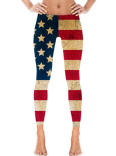 American Flag Grunge Leggings