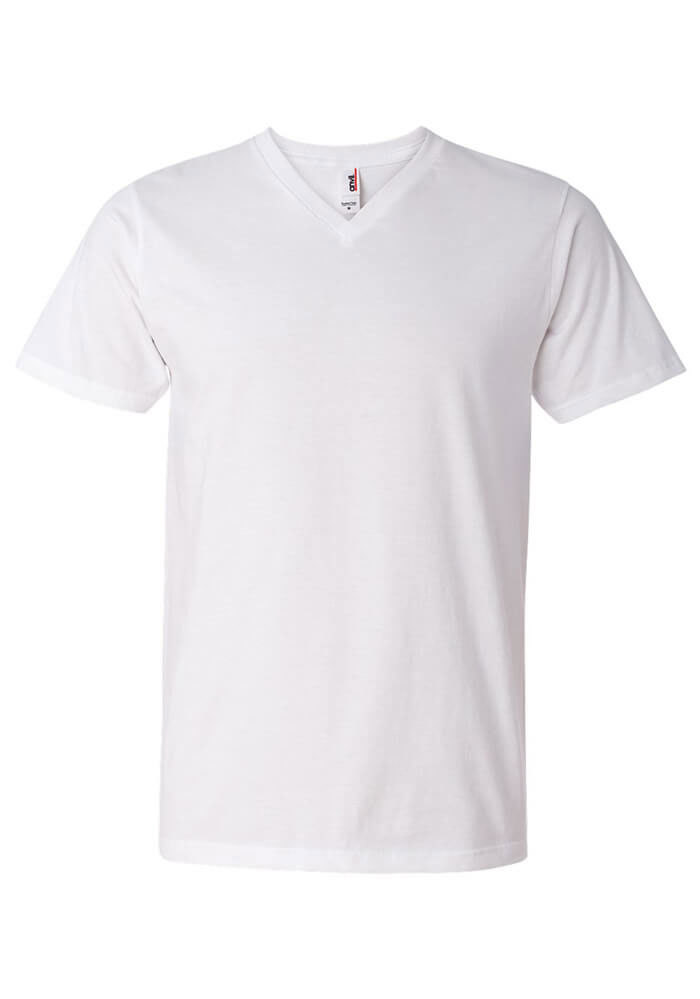 be6c8132342f Personalized Men's V-Neck T-Shirt - Anvil 982 | Printful