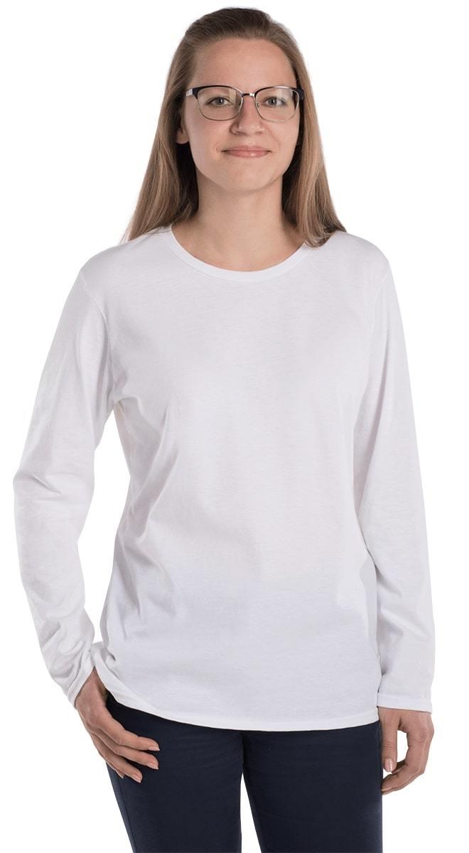 2392a270 Anvil 884L Women's Lightweight Long Sleeve Tee with Tear Away Label