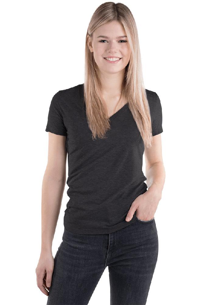 5fa174278 Bella + Canvas 8435 Triblend Deep V-Neck T-Shirt with Tear Away Label