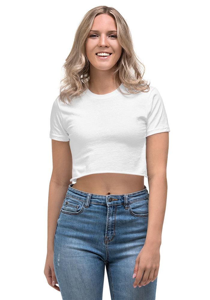 e14eedcd Los Angeles Apparel 2332 Fine Jersey Short Sleeve Cropped T-Shirt w/ Tear  Away Label