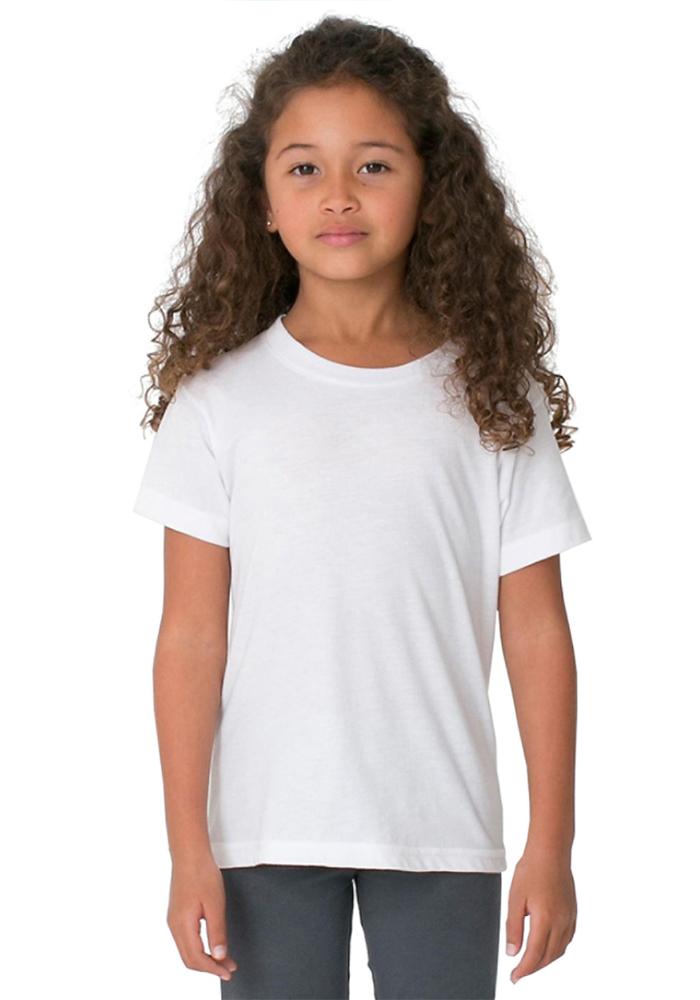 American Apparel 2105W Kids Fine Jersey Short Sleeve T-Shirt  a3c2da074679