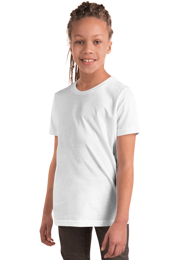 d3d6b956 Bella + Canvas 3001Y Youth Short Sleeve Tee with Tear Away Label ...