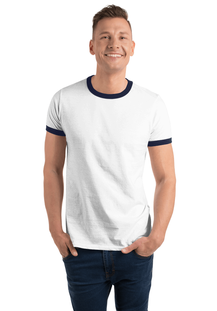 802b5d824 Anvil 988 Lightweight Ringer Tee with Tear Away Label | Printful