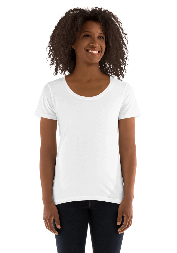053363bca23e Personalized Women's Scoop Neck Tee - Anvil 391 | Printful